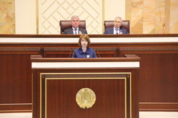 Выступление на заседании Палаты представителей Национального собрания Республики Беларусь